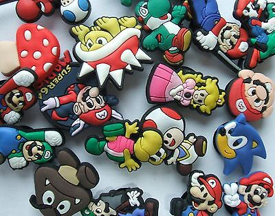 SHOE CHARMS (J3) - inspired by SUPER MARIO