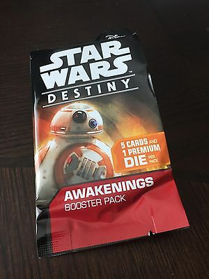 New RARE Sealed Star Wars Destiny Awakenings Booster Pack Wave 3 - FREE SHIPPING