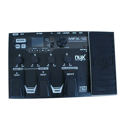 MFX-10 Multi-Effects Modeling Electric Guitars LCD Guitar Pedal Processor Black
