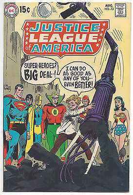 Justice League of America #73 (VF) 1969, 1st SA appearance of GA Superman