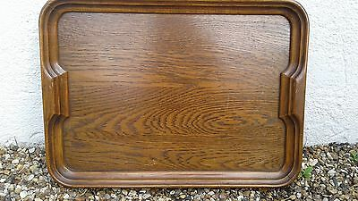 Antique Vintage Oak Butlers Serving Tray