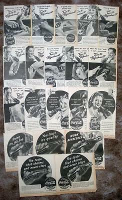 COCA COLA -- 20 Newspaper ads from 1941