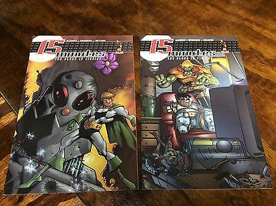 15 Minutes #1-2 (SLG Publishing/101419) comic book complete set lot of 2