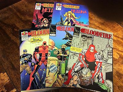 Bloodfire #1-2,12 (Lightning Comics/101492) comic book collection lot of 5