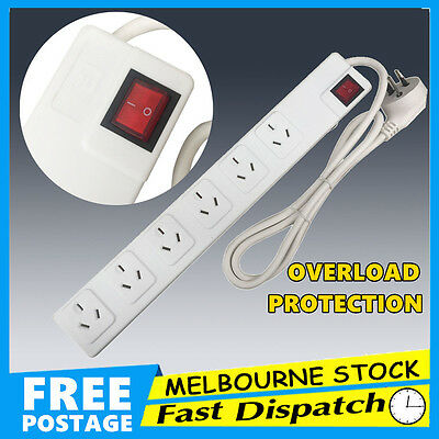 4 6 Way Outlet Power Strip Board Distribution Point Powerboard Socket Switch