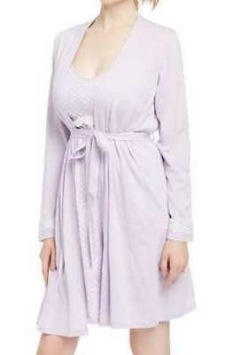 NWT-Womens Maternity Oh Baby Motherhood Lace Nursing Gown & Robe Set-sz S, M & L