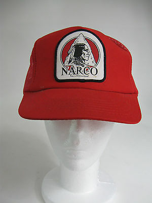 VTG Narco North American Refractory Co. Native Chief Red Snapback Trucker Cap