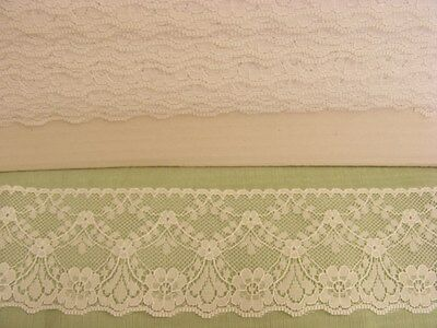 Flat White Lace 60mm wide x 10 metres (48545)