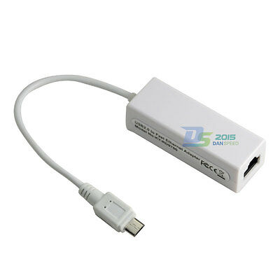 Micro USB 2.0 Male to RJ45 Jack Port Lan Card 10/100Mbps Ethernet Network Cable