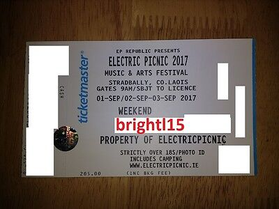 Electric Picnic 3 Day Camping Ticket
