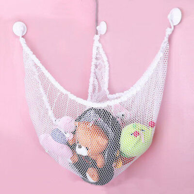 Kids Hanging Mesh Bath Toy Storage Bag Suction Cup Baskets Shower Toy Dolls Bags