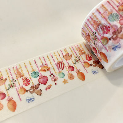 Washi Tape Wide Hanging Ornaments 30Mm Wide X 5Mtr Scrap Plan Craft Wrap
