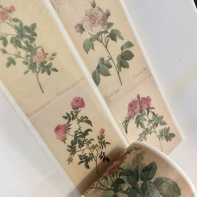 Washi Tape Wide Vintage Roses 35Mm Wide X 5Mtr Scrap Plan Craft Wrap