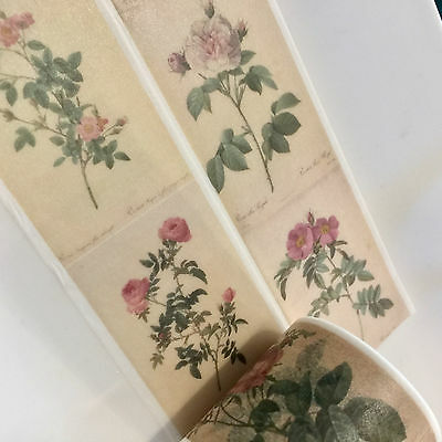 Washi Tape Wide Vintage Roses 35Mm X 5Mtr Scrap Planner Craft Wrap Mail Art