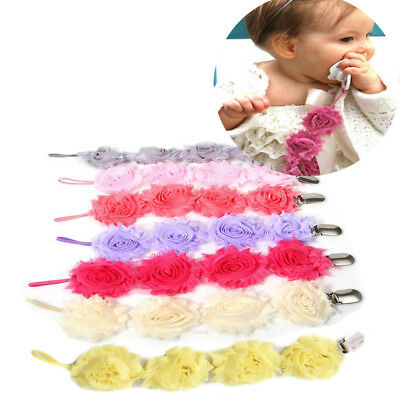 Baby Rose Pacifier Clip Soother Holder Nipple Strap Dummy Chain
