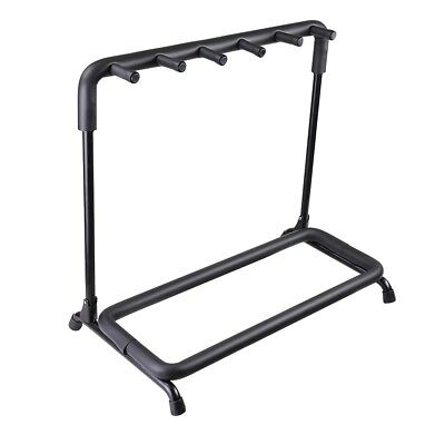 5 Five Guitar Rack Holder Stand Multiple Folding Acoustic Bass Display Storage