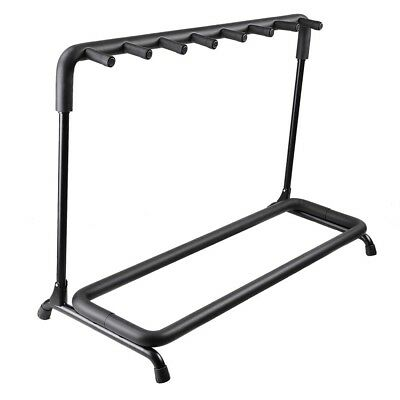 7 Seven Guitar Rack Holder Stand Multiple Folding Acoustic Bass Display Storage