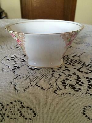 Vintage Royal Standard English Porcelain Hand Painted Floral Sugar Bowl