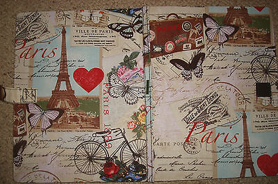 Foldaway fabric cutting and Ironing Board  Autumn French Theme Coloured cover