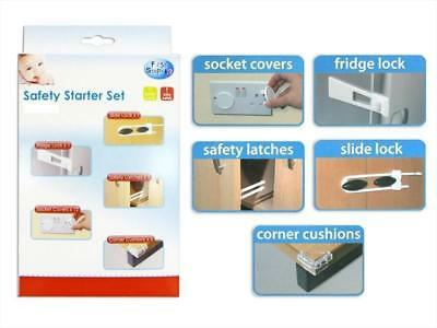 First Steps Children Babies 16 Pcs Home Safety Starter Set, Locks & Covers Kit