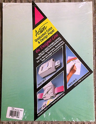"Action Graduated Color And Design Paper Green Letterhead New 8 1/2"" x 11"""