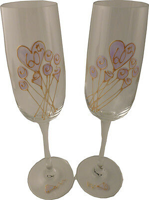 Personalised 60th Wedding Anniversary Pair of Champagne Flutes Flower