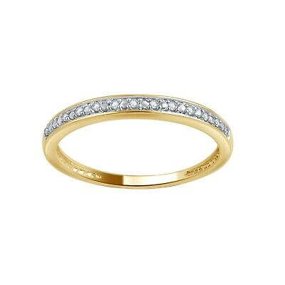 10K Solid Yellow Gold 0.05ct TDW Diamond Wedding Band by Unique Design