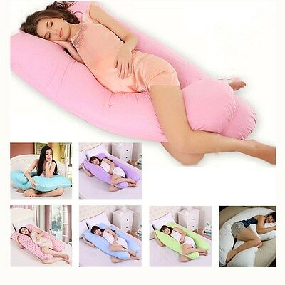 9ft U Pillow Case Cover Comfort Back Body Support Nursing Maternity Pregnancy