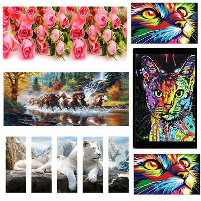 DIY 5D Animals Seires Diamond Embroidery Painting Cross Stitch Craft Home Decor