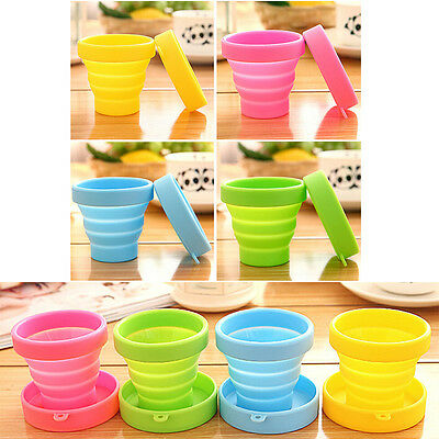 Silicone Foldable Cup Collapsible Drink Mug Travel Outdoor Camping Water Cup YA
