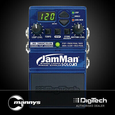 DigiTech JamMan Solo XT Compact Stereo Looping Pedal w/ JamSync