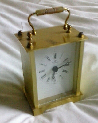 Vintage ROIDOR Germany Solid Brass Carriage Clock Mantel Clock