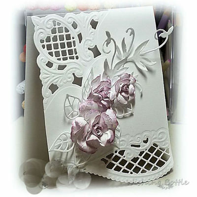 Flower Corner Card Maker Cutting Dies For DIY Scrapbooking Album Decor Template