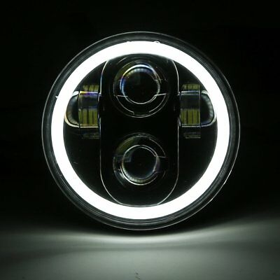 """5-3/4"""" 5.75"""" Motorcycle LED Headlight Daymaker Projector DRL Bulb For Harley UK"""
