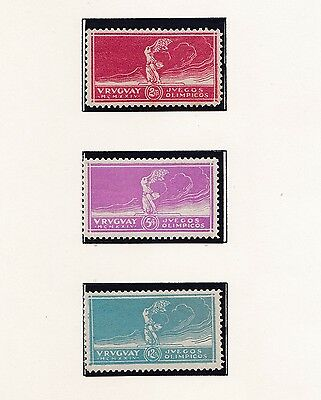 Uruguay       1924  8Th Olympic Games  2 Mnh / One Unused