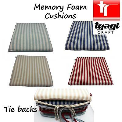 Chair Cushions With Ties SEAT PADS Cushion Pads Kitchen GARDEN