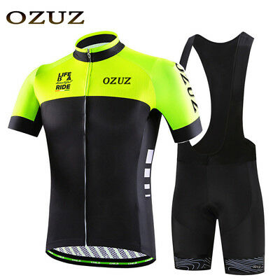 OZUZ Men's Cycling Jersey Shorts Sets Cycling Riding Clothing Shorts Sleeve