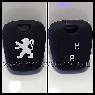 Peugeot Black 206 307 Silicone Car Key Cover Case Holder New Accessories Remote