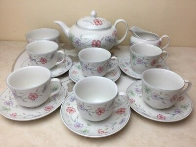 Boots Carnation Complete Tea Service Very Pretty Set Hard To Find