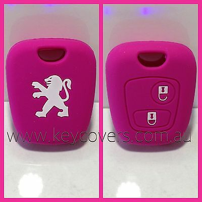 Peugeot Pink 206 307 Silicone Car Key Cover Case Holder New Accessories Remote