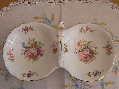 Hammersley Howard Sprays Double Relish Bon Bon Nut Dish with Handle