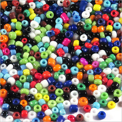 Lot Mix 8000 Perles de Rocailles en verre Opaque 2mm 100g (12/0)