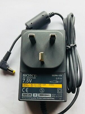Official Sony AC Adaptor PSU Cable PSone Playstation  7.5V SCPH-115 Tested