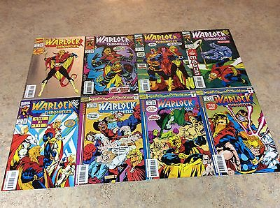 Warlock Chronicles #1,2,3,4,5,6,7,8 Lot Of 8 Comic Nm 1993-1994 Marvel