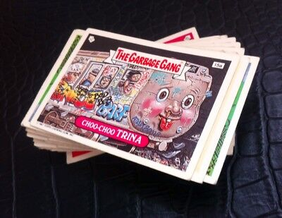 Garbage Gang 91/garbage Pail Kids UK release,almost complete (48 Stickers)