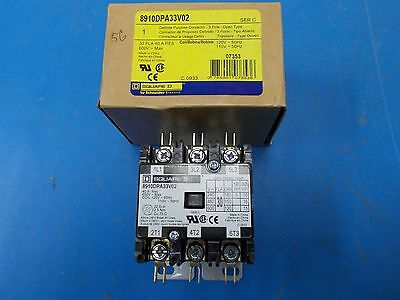 Square D Definite Purpose Contactor, 3 Pole, Open Type, 40A, 600V, 8910DPA33V02