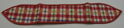 Longaberger Cherry Red Plaid Small Handle Tie Collectible Accessory Home Decor