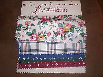 Longaberger Fabric Swatch Board - Woven Traditions Collection - 6 Original
