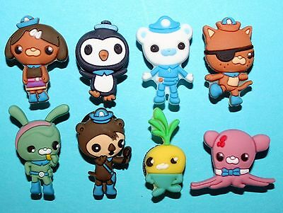 Octonauts Shoe Decorations 8 Charms Birthday Cakes Party Favours Peso Barnacles