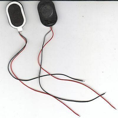 2 pcs Thin Oval Speakers 8 ohm 1w 30mm x 20mm x 4mm DIY Arduino Tablet Repair.